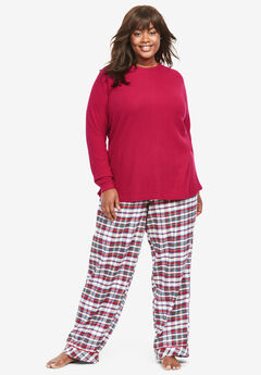 Thermal PJ Set by Only Necessities®, CLASSIC RED PLAID