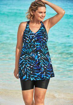 Longer Length Braided Tankini Top by Swim 365,