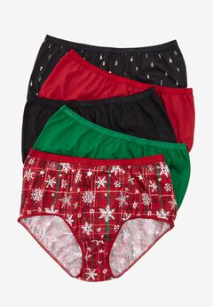 10-Pack Cotton Full-Cut Brief by Comfort Choice®, WINTER PACK