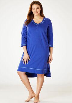 Scoopneck Sleepshirt by Dreams & Co.®, BLUE SAPPHIRE AZURE