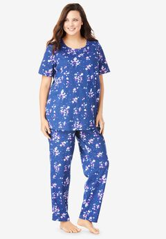 Graphic Tee PJ Set by Dreams & Co®, EVENING BLUE HEARTS