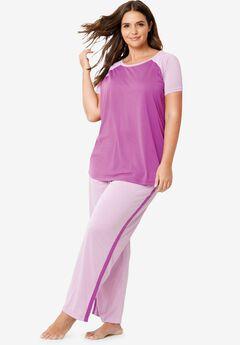 Cool Dreams Baseball Tee Pajama Set by Dreams & Co.®,