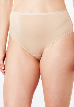 High-Cut Brief by Comfort Choice®, NUDE, hi-res