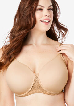 04f160e91 Full Coverage Lace-Trim Underwire T-Shirt Bra by Comfort Choice®