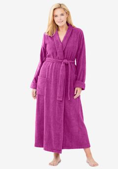 Long Terry Robe by Dreams & Co®, RICH MAGENTA