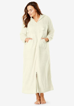 Plush Hooded Long Robe by Dreams   Co.® 1fa05364e