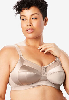 Goddess® Keira Satin Wireless Bra #6093, FAWN