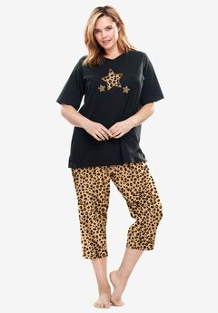2-Piece Capri PJ Set by Dreams & Co.®, CLASSIC LEOPARD