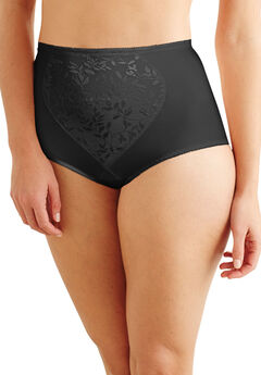 Moderate tummy control brief 2 pack by Bali®, BLACK