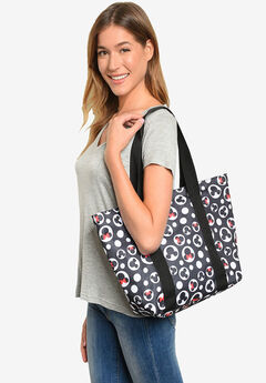 Disney Mickey Mouse Tote Minnie Icon Zippered Travel Handbag,