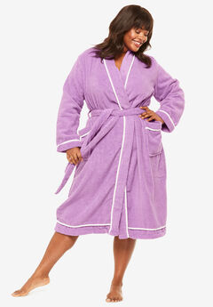 Spa Terry Short Wrap Robe by Dreams & Co.®, LIGHT ORCHID