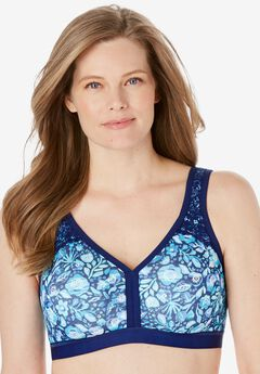 Comfort Strap Wireless Lace-Trim Bra by Comfort Choice®,