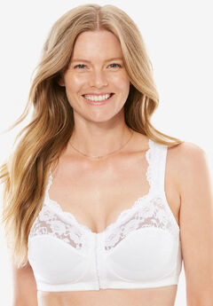 Front Hook Gel Strap Wireless Bra by Comfort Choice®,