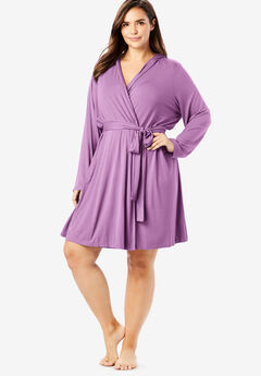 Short Hooded Robe by Dreams & Co.®, LIGHT ORCHID
