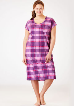 Supersoft Thermal Sleepshirt by Dreams & Co.®, LIGHT ORCHID PLAID