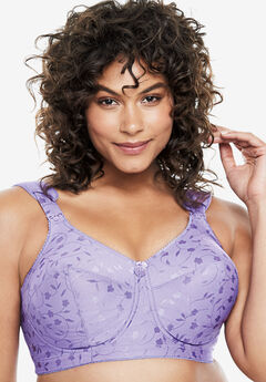 Elila® Jacquard Wireless Bra #1305, LILAC