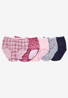 Panty 5-pack underwear in colorful cotton by Comfort Choice®, BRIGHT BERRY PACK, hi-res