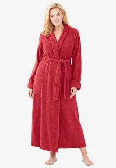 Long Terry Robe by Dreams & Co®, CLASSIC RED