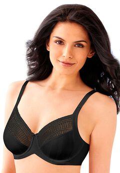 Lilyette® by Bali® Enchantment Lace Minimizer® Bra, BLACK LATTE