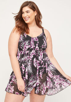 Floral Wrapped Swimdress,