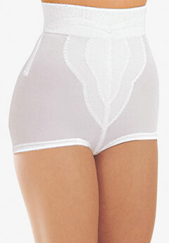Diet minded medium shaping high-waisted brief by Rago®, WHITE, hi-res