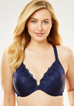 Front Close T-Back Wonderwire® Bra by Glamorise®,