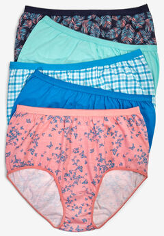 04270e1b2 5-Pack Pure Cotton Full-Cut Brief by Comfort Choice®