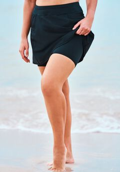Zip-Pocket Swim Skort by Swim 365,
