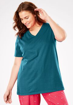 V-Neck Sleep Tee by Dreams & Co®,