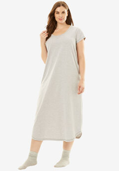 Scoopneck Sleepshirt with Free Socks by Dreams & Co.®,