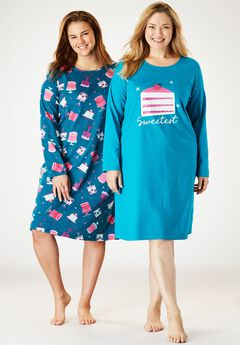 2-Pack Cotton Sleepshirts by Dreams & Co.®,