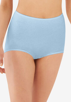 Cool cotton shaping stretch brief by Bali®, BLUE SKY, hi-res