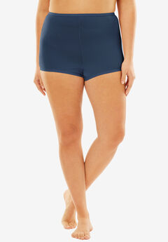 Stretch Microfiber Boyshort By Comfort Choice®, NAVY, hi-res