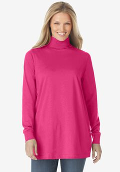 Perfect Long-Sleeve Turtleneck Tee,
