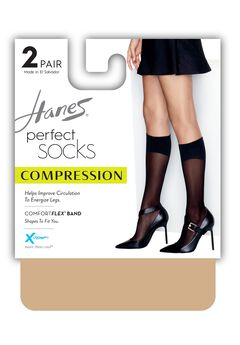 Perfect Geo Compression Socks 2-Pack,