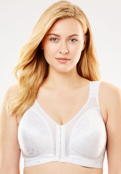 Front-Close 18 Hour Bra by Playtex®, WHITE