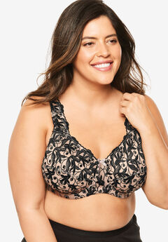 Embroidered Underwire Bra by Amoureuse®,