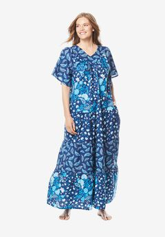 Tiered Print Lounger by Only Necessities®, EVENING BLUE PAISLEY