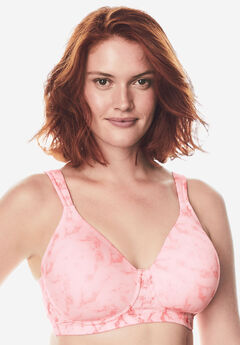Brigitte Full Coverage Seamless Wireless Bra 5042, SOFT PINK