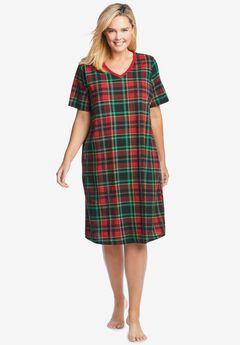 Print Sleepshirt , CLASSIC RED PLAID