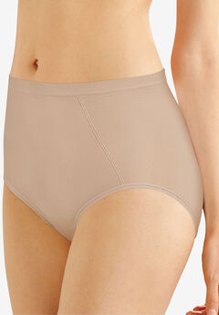 Seamless, extra-firm control shaping brief 2 pack by Bali®, NUDE, hi-res