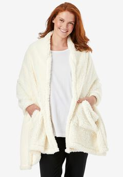 Drape-Over Sherpa Wrap ,
