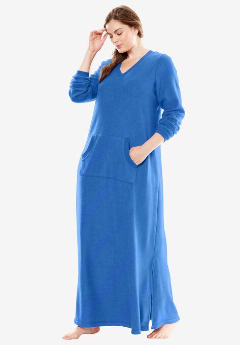 Long Sherpa Lounger By Dreams Co Plus Size Lounge Dresses