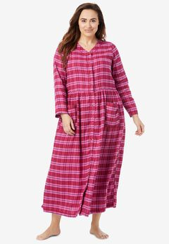 Flannel Plaid Lounger by Only Necessities®, PINK BURST PLAID