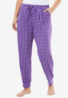 Sweet Dream Sleep Jogger by Dreams & Co.®, VIOLET BLOOM FOULARD, hi-res