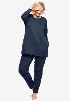 Topstitched Tunic PJ Set by Dreams & Co.®,