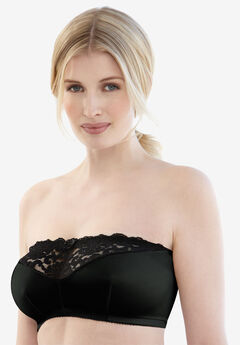 Strapless Bra by Glamorise®, BLACK