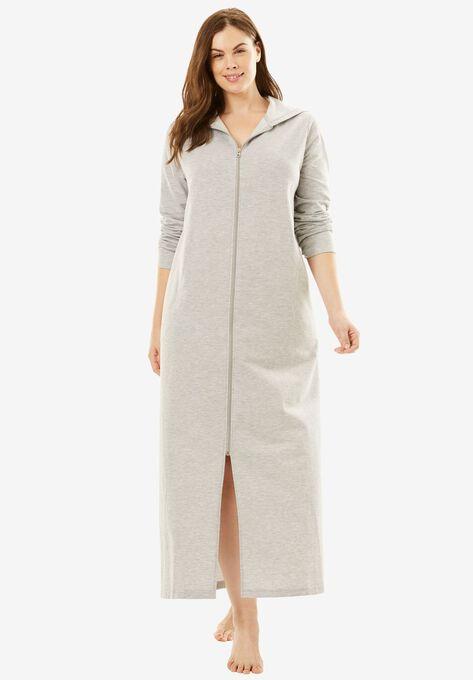 7b6b738ed01 Long Zip-Front Robe by Dreams   Co.®