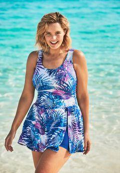 Side-Slit Swim Dress by Swim 365,