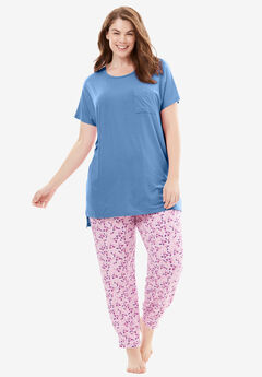 Sweet Dream Mixer Drape Tee by Dreams & Co.®, FOUNTAIN BLUE, hi-res